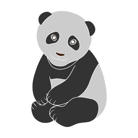 Panda.Animals single icon in colour style vector symbol stock illustration web.