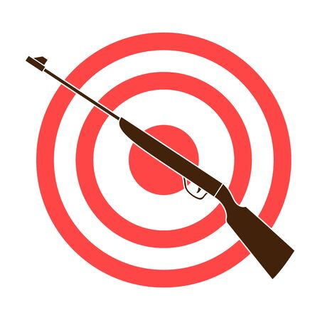 Weapon and target. Shooting gallery in an amusement park.Amusement park single icon in colour style vector symbol stock illustration.