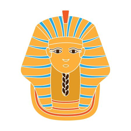 Sphinx icon in colour style isolated on white background. Ancient Egypt symbol stock vector illustration. Standard-Bild - 129176078