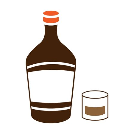 Liqueur icon in colour style isolated on white background. Alcohol symbol stock vector illustration.  イラスト・ベクター素材