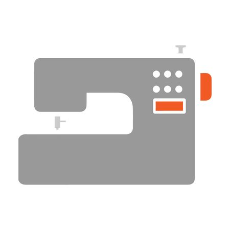 Sewing machine icon of vector illustration for web and mobile Çizim