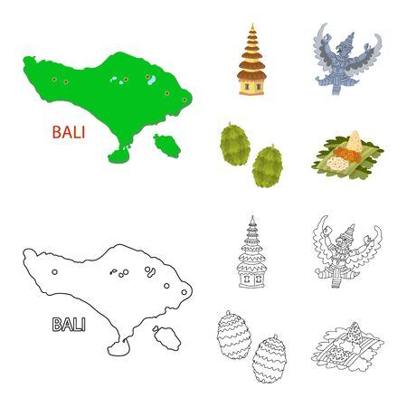 Vector design of and travel. Collection of and traditional vector icon for stock. Ilustracja