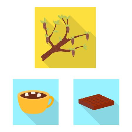 Vector design of treat and product . Collection of treat and yummy vector icon for stock.