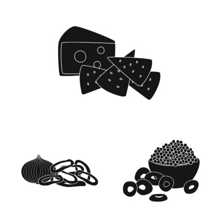 Vector design of ingredient and organic symbol. Set of ingredient and product vector icon for stock. Иллюстрация