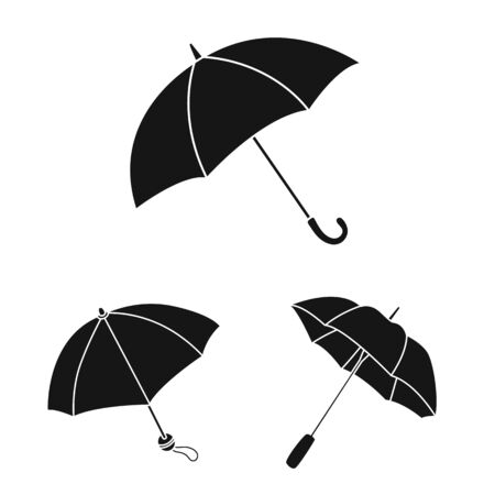 Vector illustration of weather and rainy. Collection of weather and rain stock symbol for web.