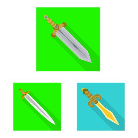 Vector design of and sword sign. Collection of and knife stock vector illustration.