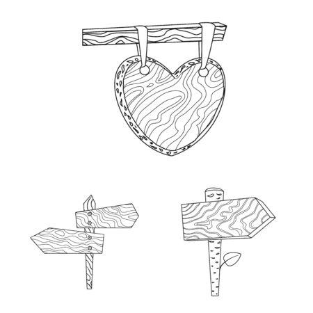 Vector illustration of hardwood and material symbol. Collection of hardwood and wood stock vector illustration. Stock fotó - 129267500