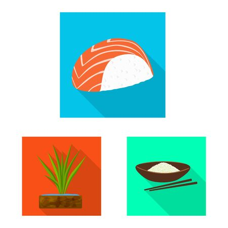 Vector design of raw and agricultural sign. Collection of raw and ecological stock symbol for web. Ilustracja