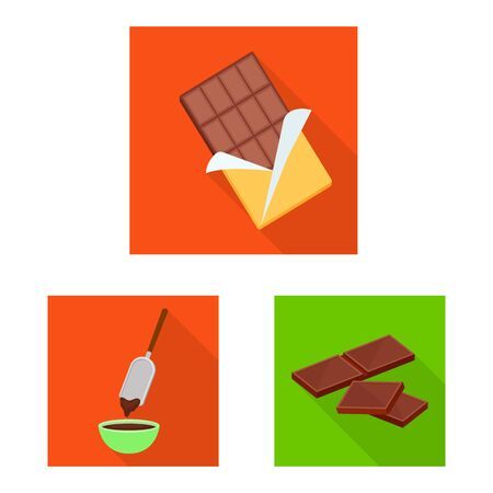 Vector design of treat and product. Collection of treat and yummy vector icon for stock.