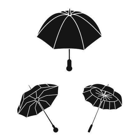 Isolated object of weather and rainy icon. Collection of weather and rain vector icon for stock.