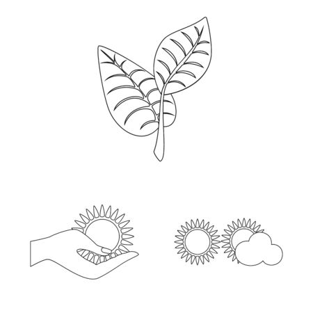 Vector illustration of innovation and technology icon. Set of innovation and nature stock vector illustration.