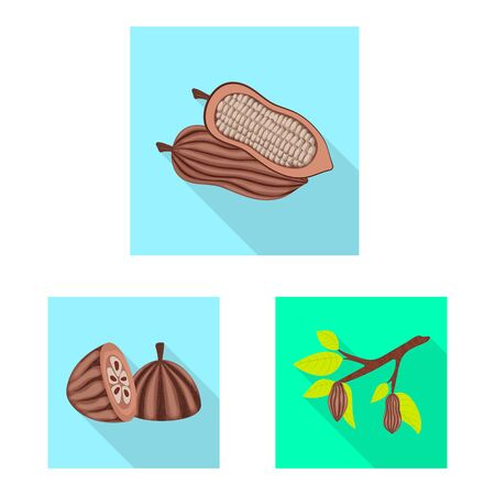 Vector design of treat and product symbol. Set of treat and yummy stock vector illustration.