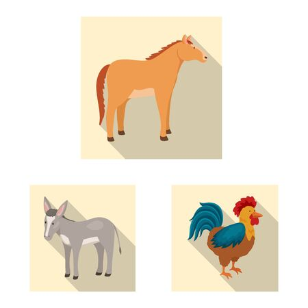 Isolated object of breeding and kitchen. Set of breeding and organic vector icon for stock. Stock Illustratie