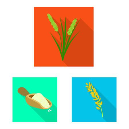 Vector design of raw and agricultural. Set of raw and ecological vector icon for stock. Ilustracja