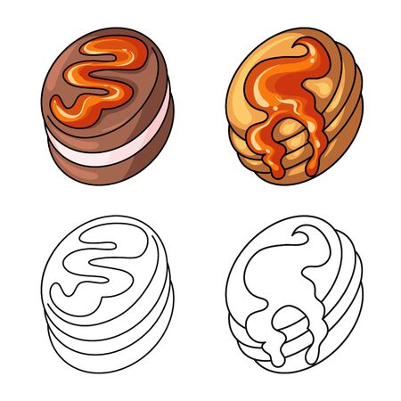 Vector design of confectionery and culinary. Set of confectionery and product vector icon for stock.
