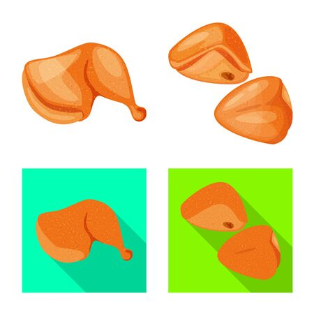 Vector illustration of product and poultry sign. Set of product and agriculture vector icon for stock. Ilustracja