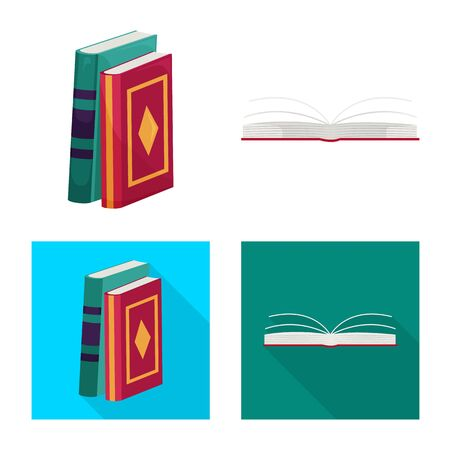 Isolated object of training and cover symbol. Collection of training and bookstore vector icon for stock.