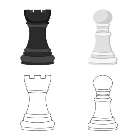 Vector design of checkmate and thin. Collection of checkmate and target stock symbol for web.