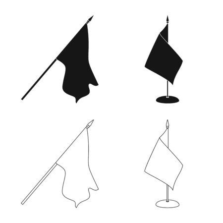 Vector design of texture and presentation symbol. Collection of texture and media stock symbol for web. Stock fotó - 129266667