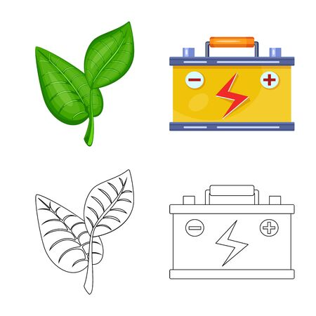 Vector design of innovation and technology icon. Collection of innovation and nature stock vector illustration.