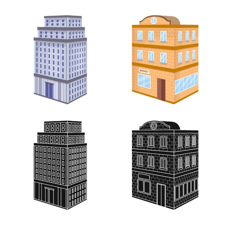 Isolated object of construction and building . Collection of construction and estate stock symbol for web.