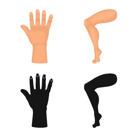 Isolated object of body and part symbol. Collection of body and anatomy vector icon for stock. Banque d'images - 129324771