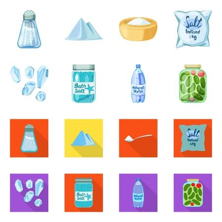 Vector design of cooking and sea icon. Set of cooking and baking vector icon for stock. Stockfoto - 129267525
