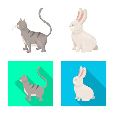 Vector illustration of breeding and kitchen. Set of breeding and organic vector icon for stock.