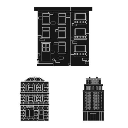 Vector design of modern and estate sign. Collection of modern and building stock symbol for web. Ilustração