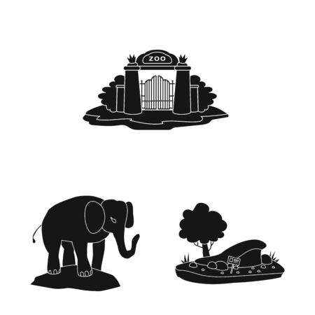 Vector illustration of fauna and entertainment symbol. Collection of fauna and park stock vector illustration.