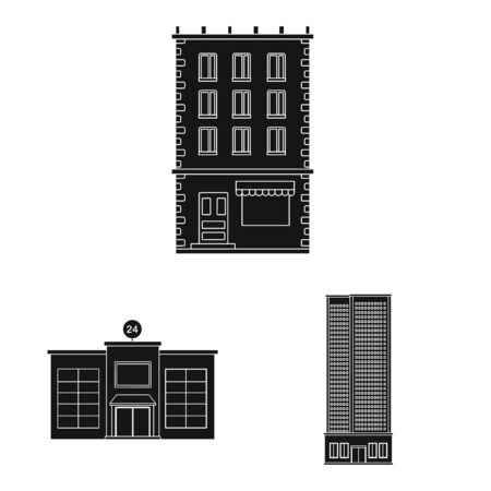Isolated object of modern and estate icon. Collection of modern and building stock symbol for web.