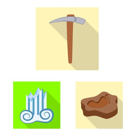 Vector illustration of story and items . Set of story and attributes stock symbol for web. Foto de archivo - 129326018