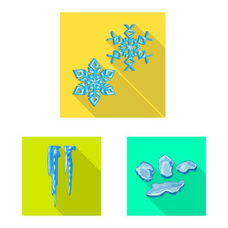 Vector design of texture and frozen . Set of texture and transparent stock symbol for web. Ilustrace