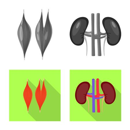 Vector design of biology and scientific symbol. Collection of biology and laboratory vector icon for stock.