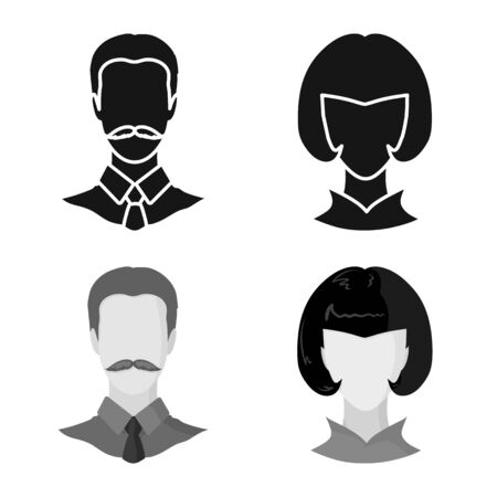 Vector design of professional and photo . Collection of professional and profile vector icon for stock.