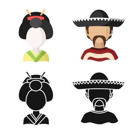 Vector design of imitator and resident icon. Collection of imitator and culture stock vector illustration.
