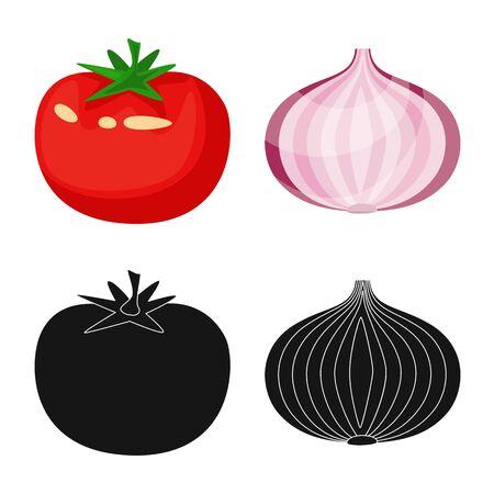 Vector illustration of taste and product icon. Collection of taste and cooking vector icon for stock. Ilustracja