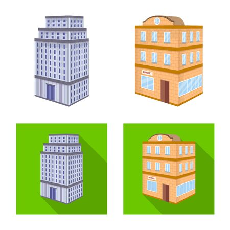 Vector illustration of construction and building icon. Collection of construction and estate vector icon for stock.