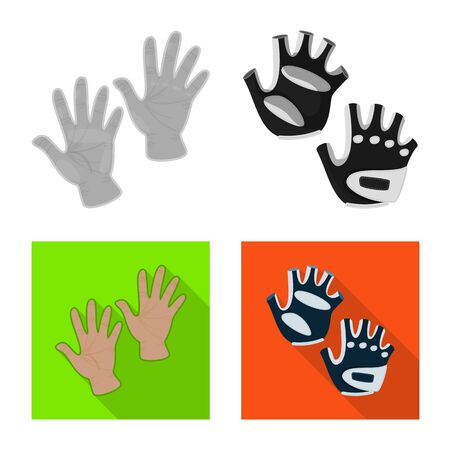 Vector design of silhouette and safety icon. Collection of silhouette and comfort stock symbol for web. Zdjęcie Seryjne - 129327095