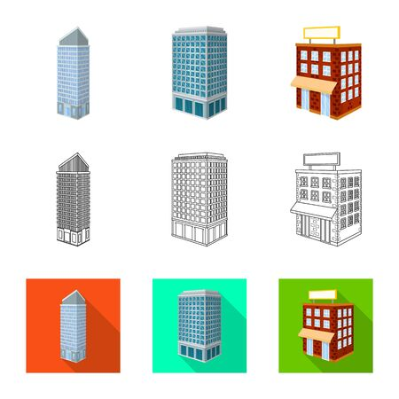 Vector illustration of construction and building icon. Collection of construction and estate stock symbol for web.