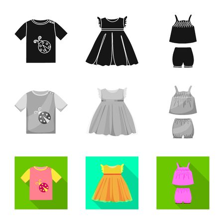 Isolated object of fashion and garment icon. Collection of fashion and cotton vector icon for stock. Foto de archivo - 129327138