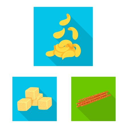 Isolated object of Oktoberfest and bar icon. Set of Oktoberfest and cooking stock symbol for web. Stock Illustratie