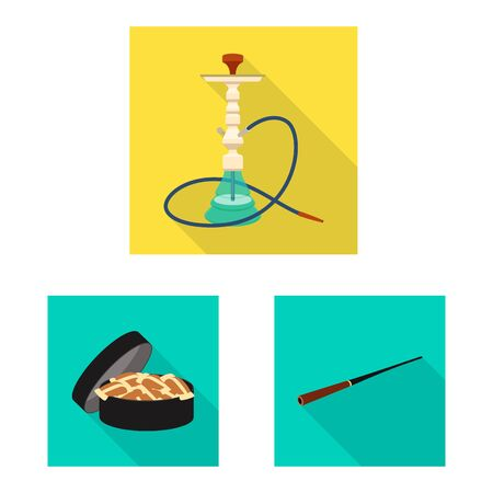 Isolated object of smoke and statistics icon. Collection of smoke and stop stock vector illustration. Иллюстрация