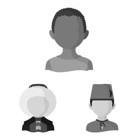 Vector design of person and culture . Collection of person and race stock vector illustration. Иллюстрация
