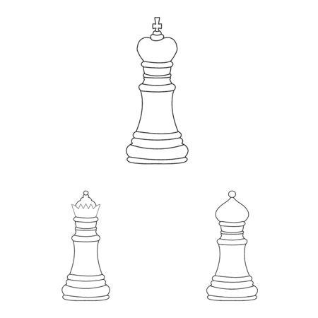 Oggetto isolato del simbolo del pezzo e della strategia. Set di pezzo e gioca simbolo azionario per il web.