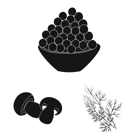Vector illustration of organic and cooking icon. Collection of organic and flavors stock symbol for web.