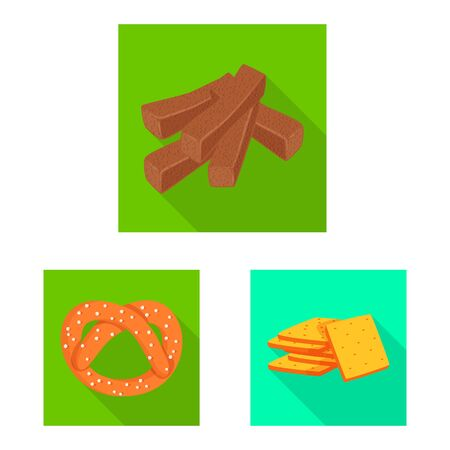 Isolated object of Oktoberfest and bar symbol. Set of Oktoberfest and cooking stock vector illustration.