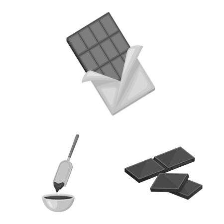 Vector illustration of dessert and sweetness sign. Collection of dessert and product stock symbol for web.