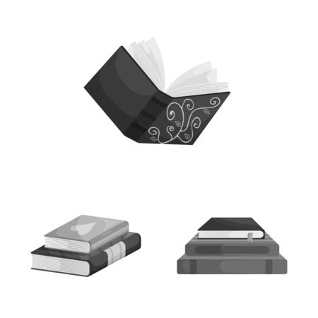 Vector design of education and source icon. Collection of education and information vector icon for stock. Ilustração