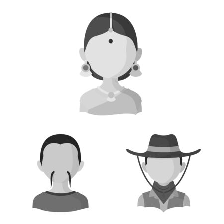 Vector design of person and culture sign. Collection of person and race stock vector illustration.